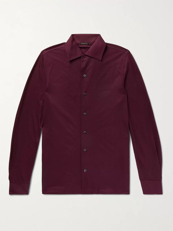 Rubinacci Slim-Fit Wool Shirt