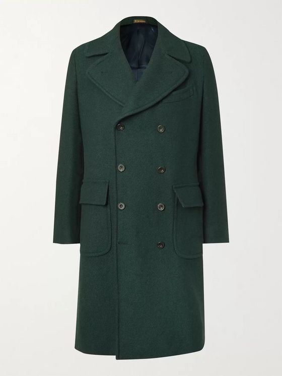 Rubinacci Slim-Fit Double-Breasted Wool and Cashmere-Blend Twill Overcoat