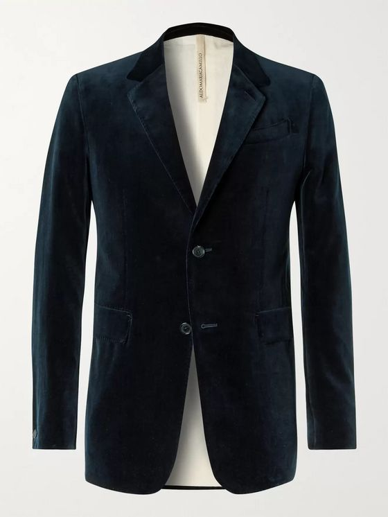 ALDOMARIACAMILLO Cotton-Velvet Suit Jacket