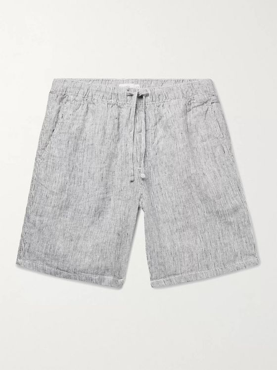 Onia Noah Striped Linen Drawstring Shorts