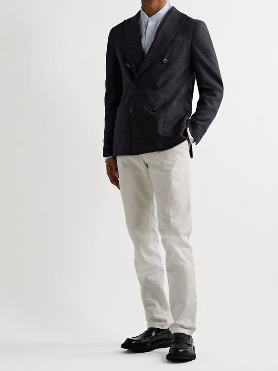 Lardini Double-Breasted Wool-Blend Blazer