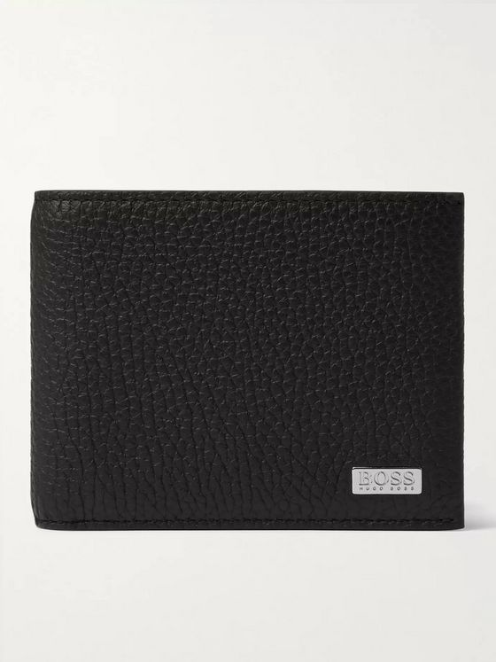 HUGO BOSS Full-Grain Leather Billfold Wallet