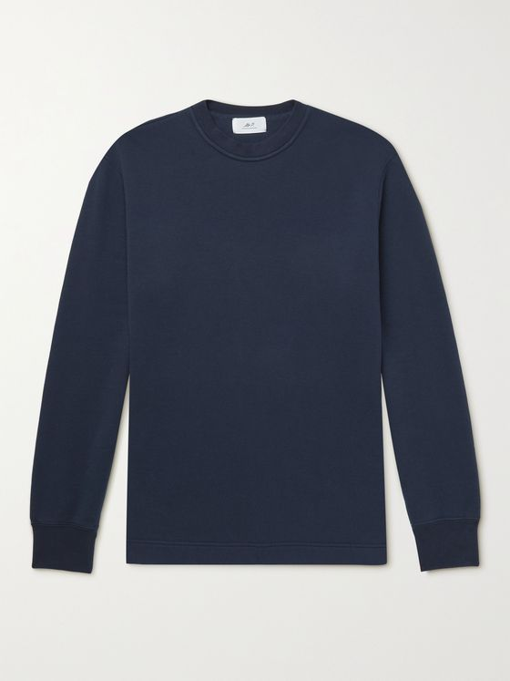 MR P. Japanese Organic Cotton-Jersey Sweatshirt
