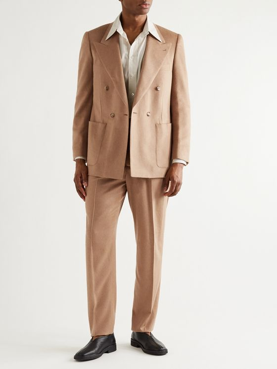 UMIT BENAN B+ Double-Breasted Camel Suit Jacket