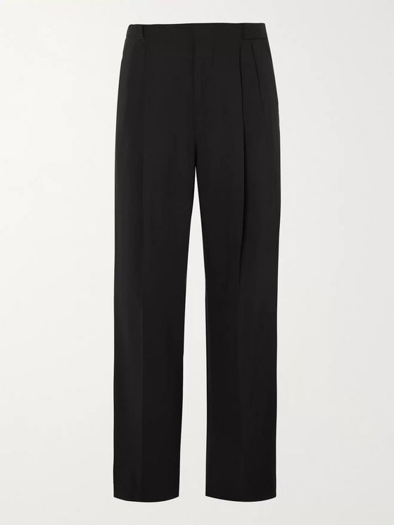 UMIT BENAN B+ Wide-Leg Pleated Virgin Wool-Blend Trousers