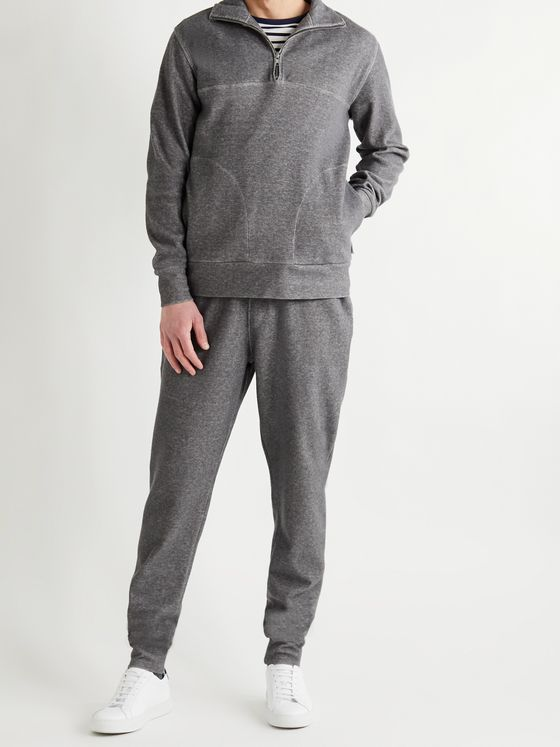 Oliver Spencer Loungewear Slim-Fit Tapered Recycled Cotton-Blend Jersey Sweatpants