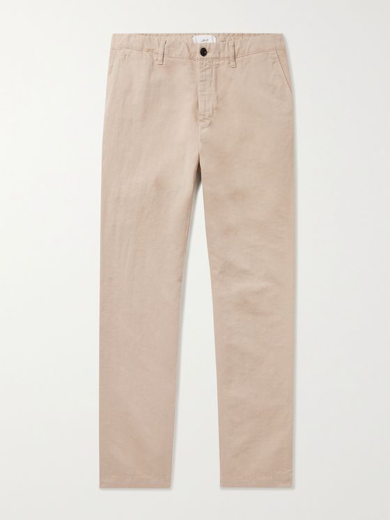 MR P. Cotton and Linen-Blend Chinos