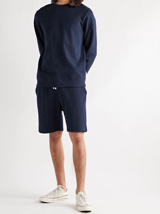 Oliver Spencer Loungewear House Cotton-Blend Jersey Drawstring Shorts