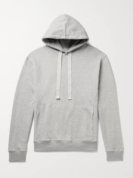 Oliver Spencer Loungewear Mélange Cotton-Blend Jersey Hoodie
