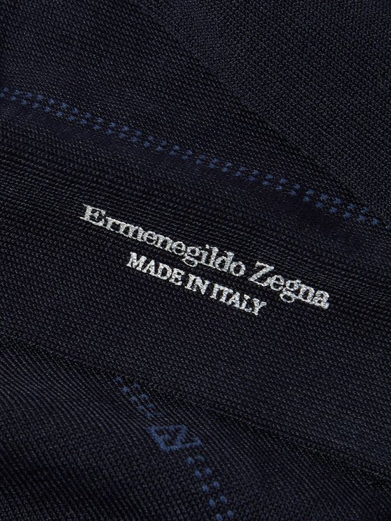 ERMENEGILDO ZEGNA Stretch Cotton-Blend Socks