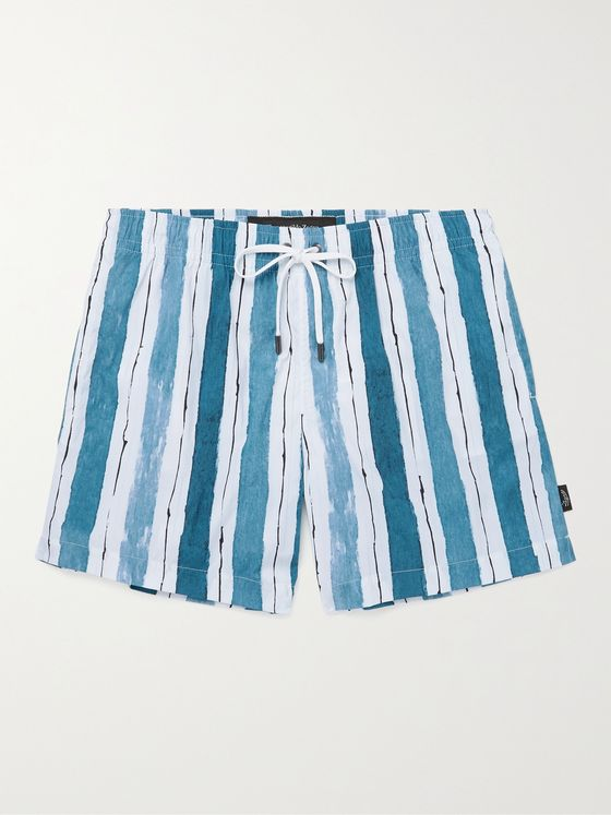 ERMENEGILDO ZEGNA Striped Swim Shorts