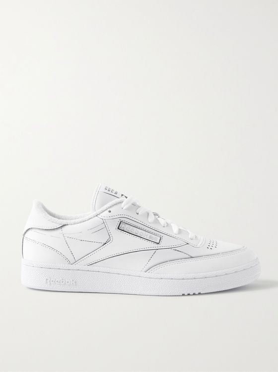 REEBOK + Maison Margiela Project 0 Club C Printed Leather Sneakers