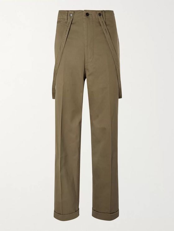 VISVIM Wide-Leg Brace-Detailed Cotton Trousers