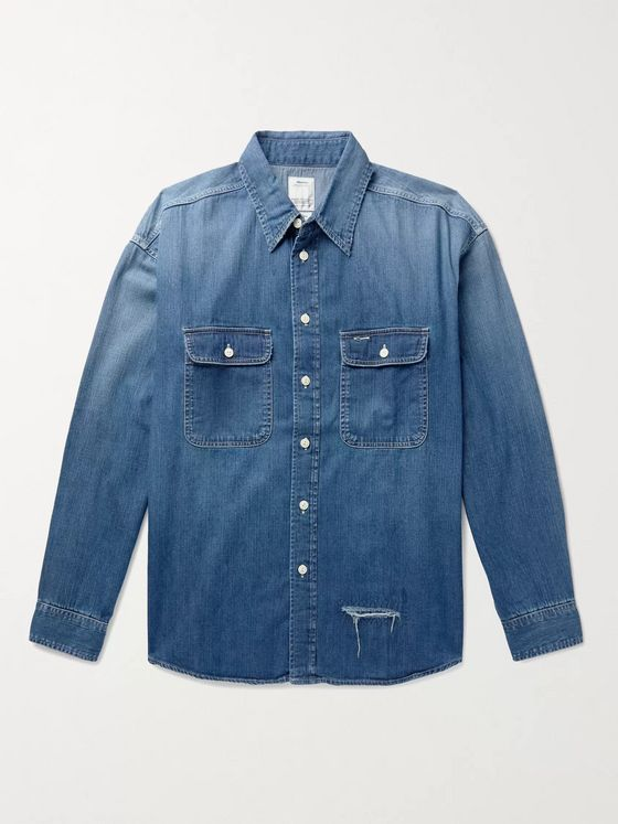 VISVIM Lumber Distressed Denim Shirt