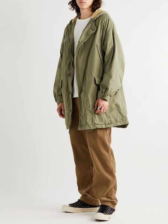 visvim Grosgrain-Trimmed Cotton-Blend Hooded Parka