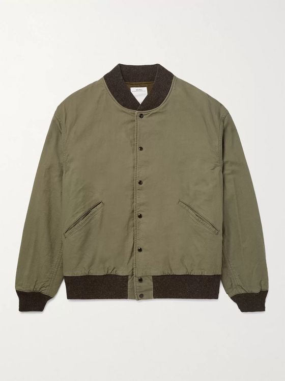 VISVIM Logo-Print Cotton Bomber Jacket