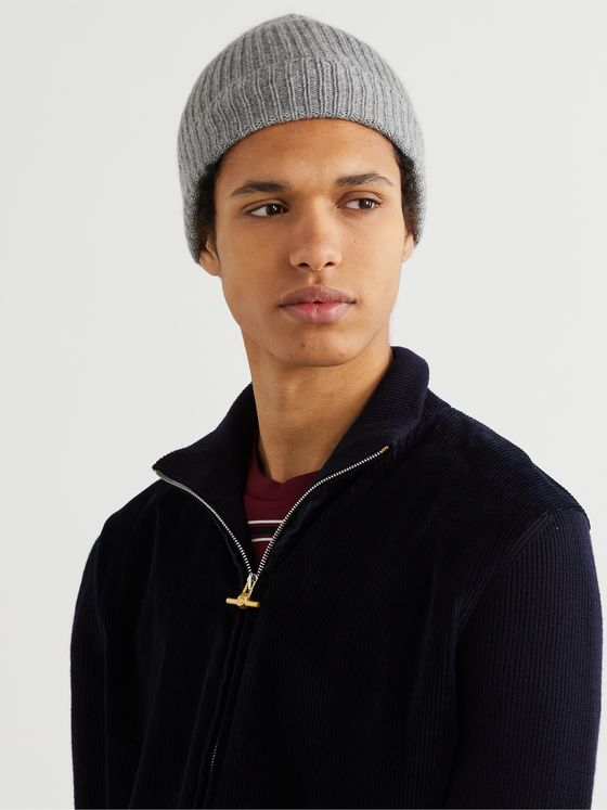 William Lockie Ribbed Cashmere Beanie