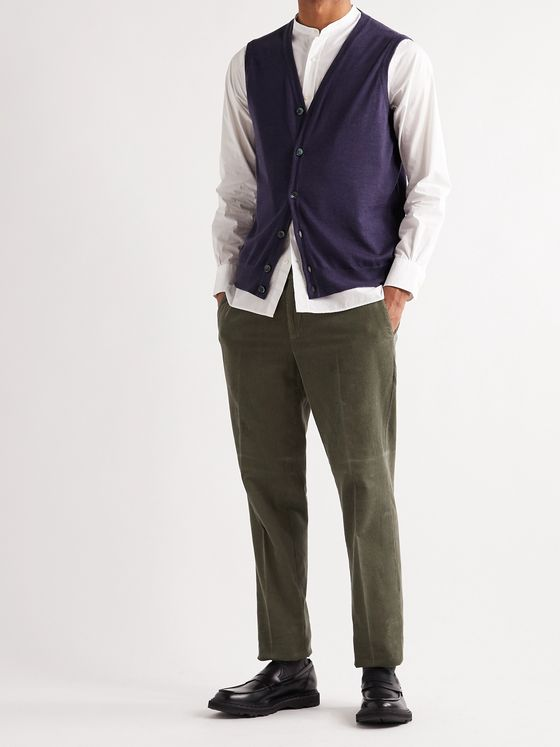 WILLIAM LOCKIE Slim-Fit Super 170s Virgin Wool Sweater Vest