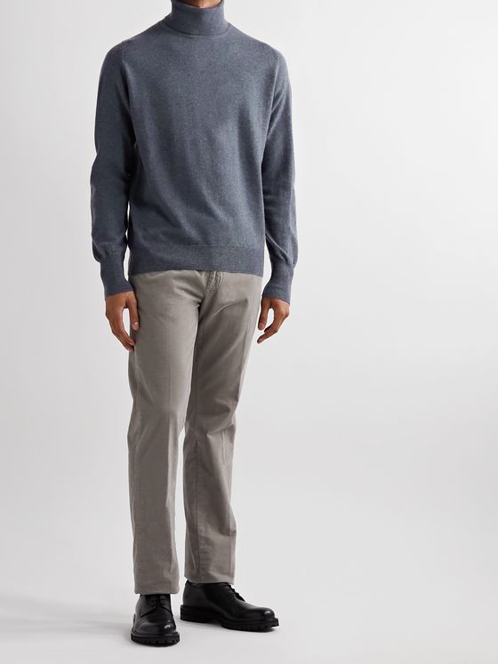 William Lockie Mélange Cashmere Rollneck Sweater