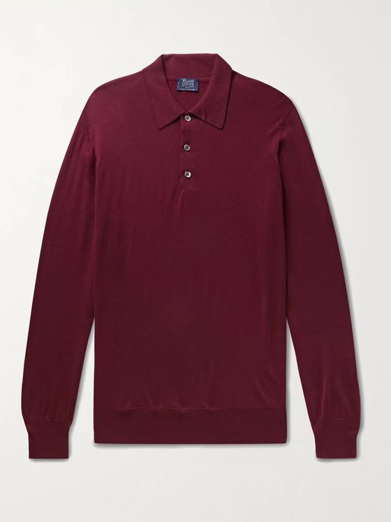 WILLIAM LOCKIE Wool Polo Shirt