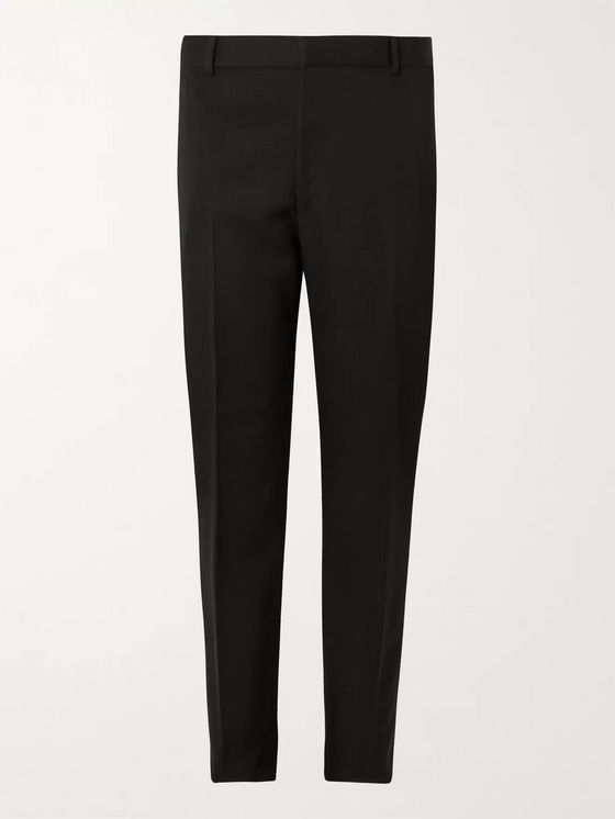 ALEXANDER MCQUEEN Tapered Wool-Barathea Trousers