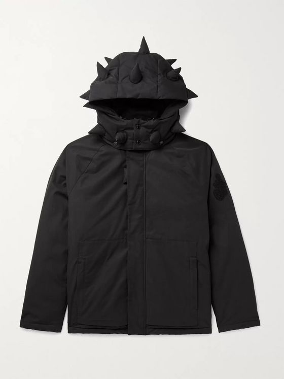 MONCLER GENIUS 1 Moncler JW Anderson Logo-Appliquéd Cotton-Blend Shell Down Hooded Jacket