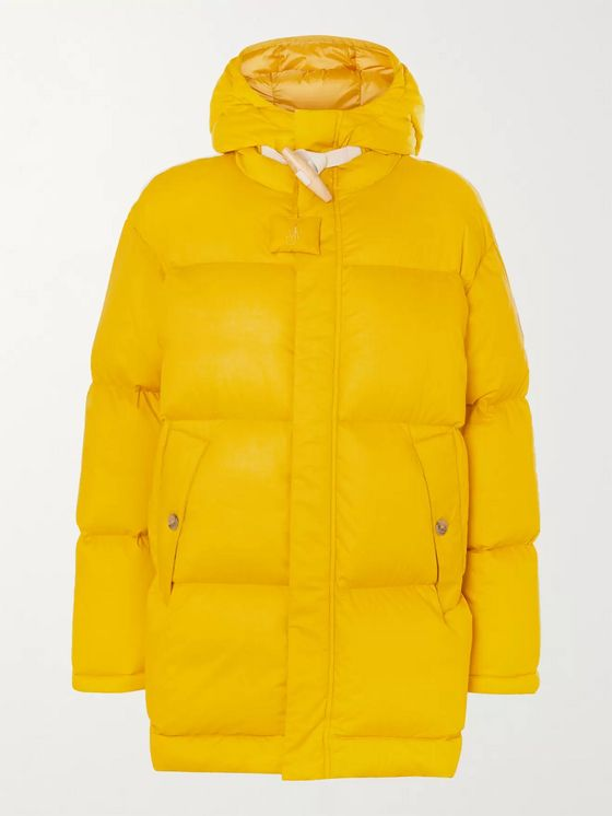 Moncler Genius 1 Moncler JW Anderson Logo-Appliquéd Quilted Cotton Hooded Down Jacket