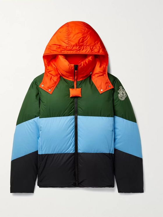 MONCLER GENIUS 1 Moncler JW Anderson Bickling Colour-Block Quilted Shell Hooded Down Jacket