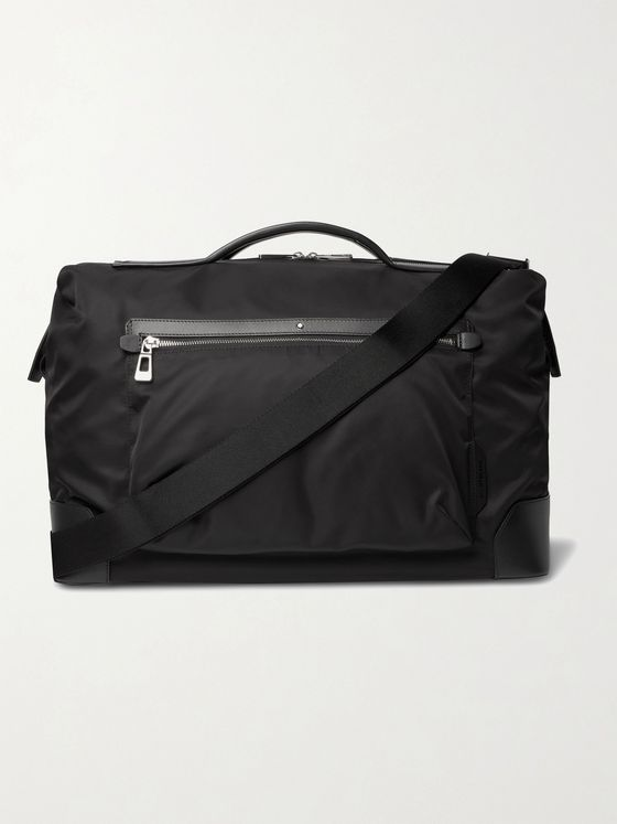 MONTBLANC Blue Spirit Leather-Trimmed ECONYL Duffle Bag