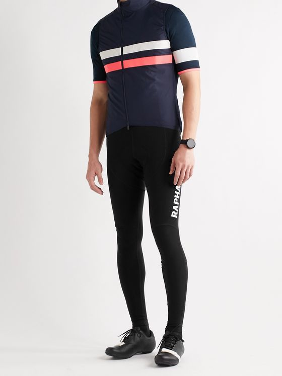 RAPHA Pro Team Winter Fleece-Back Stretch-Jersey Cycling Bib Tights