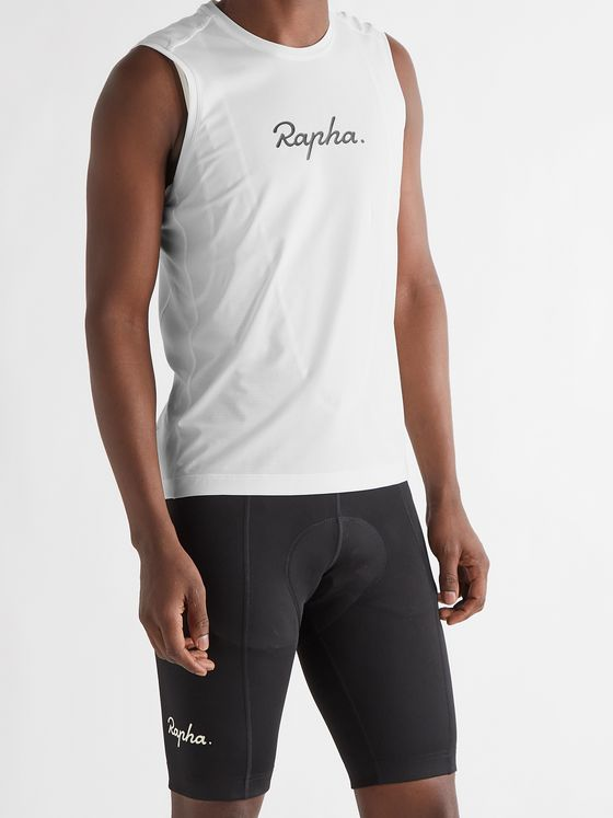 RAPHA Indoor Training Logo-Print Stretch-Jersey Cycling Tank Top