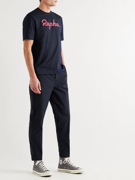RAPHA Logo-Embroidered Cotton-Jersey T-Shirt