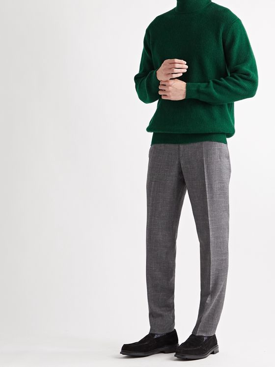 THOM SWEENEY Ribbed Merino Wool and Cashmere-Blend Rollneck Sweater