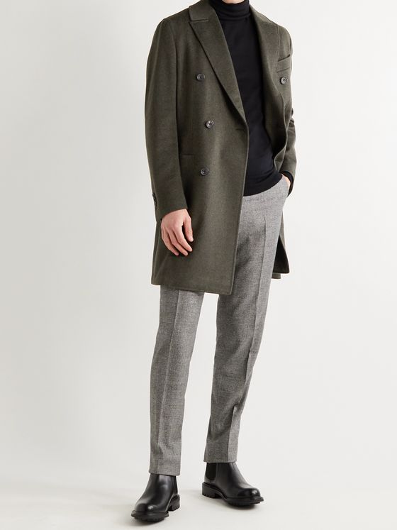 THOM SWEENEY Double-Breasted Wool Overcoat