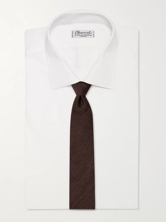 THOM SWEENEY 8cm Herringbone Virgin Wool-Blend Tie