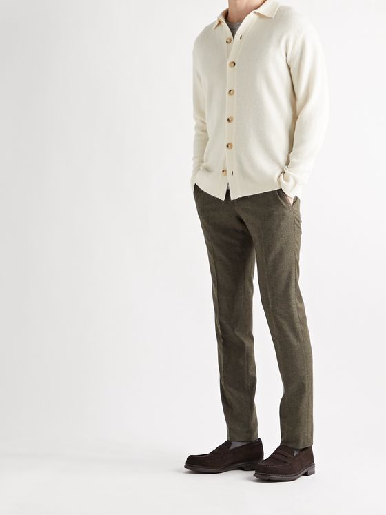 THOM SWEENEY Slim-Fit Merino Wool and Alpaca-Blend Cardigan