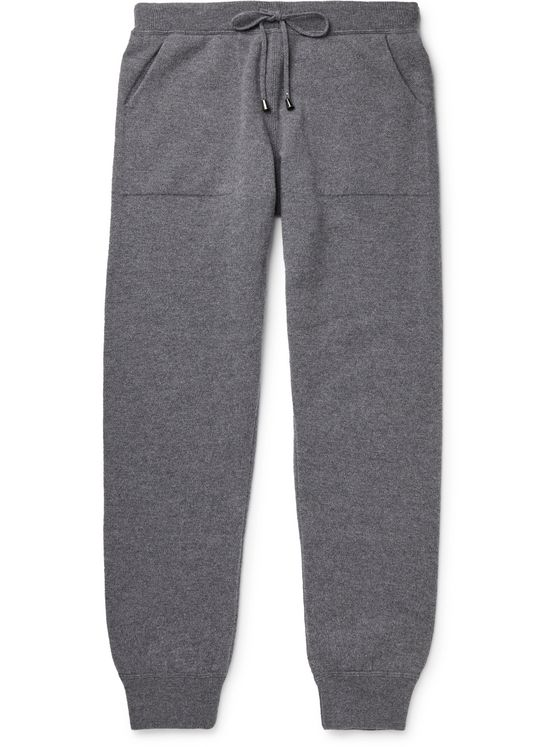 THOM SWEENEY Tapered Wool and Cashmere-Blend Sweatpants