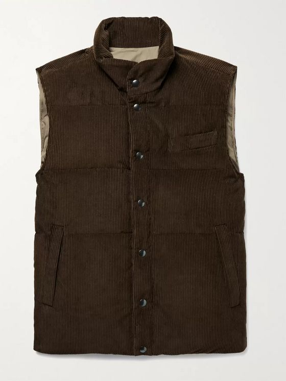 THOM SWEENEY Quilted Cotton and Cashmere-Blend Corduroy Down Gilet