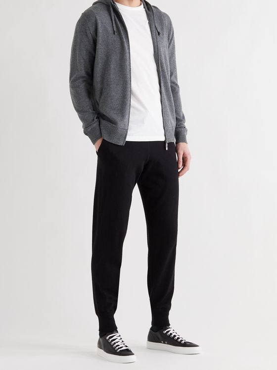 THOM SWEENEY Cashmere and Merino Wool-Blend Jersey Zip-Up Hoodie