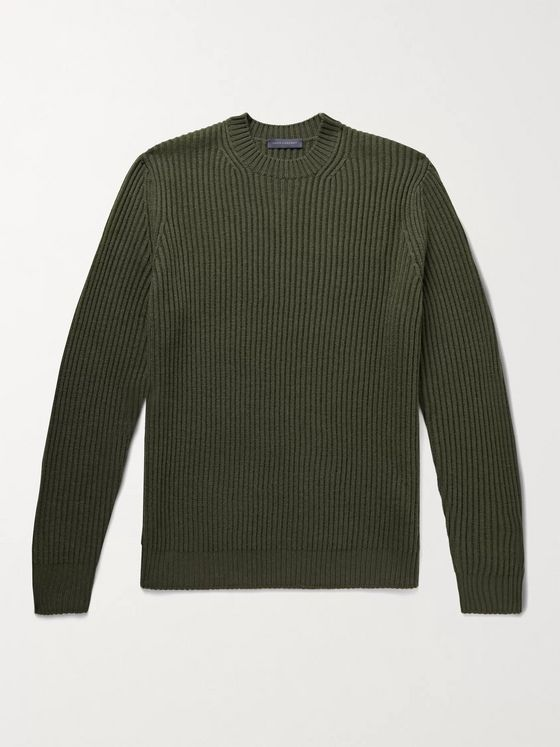THOM SWEENEY Ribbed Merino Wool Sweater