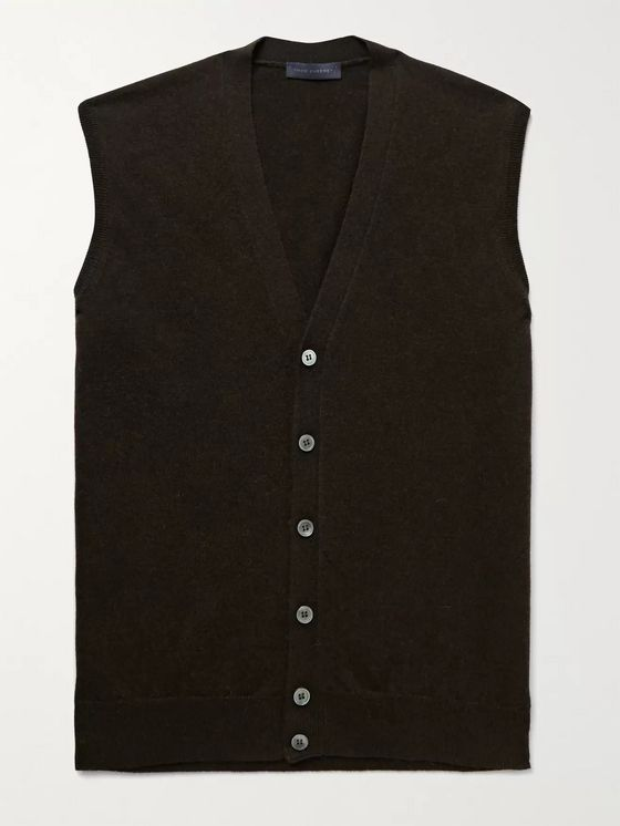 THOM SWEENEY Merino Wool and Cashmere-Blend Sweater Vest