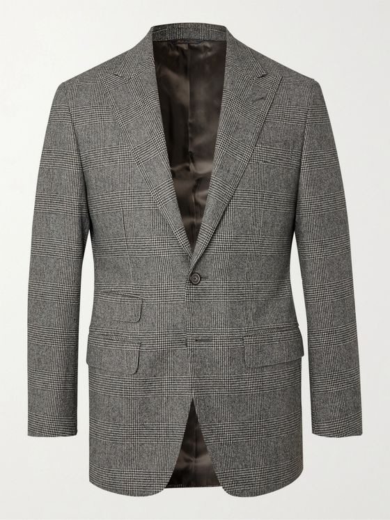 THOM SWEENEY Slim-Fit Prince of Wales Checked Wool Suit Jacket