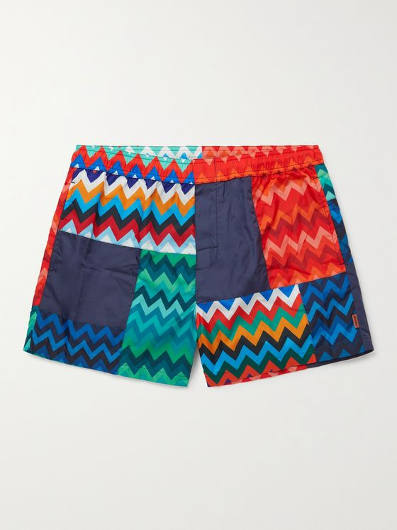 MISSONI Mid-Length Patchwork Printed Swim Shorts