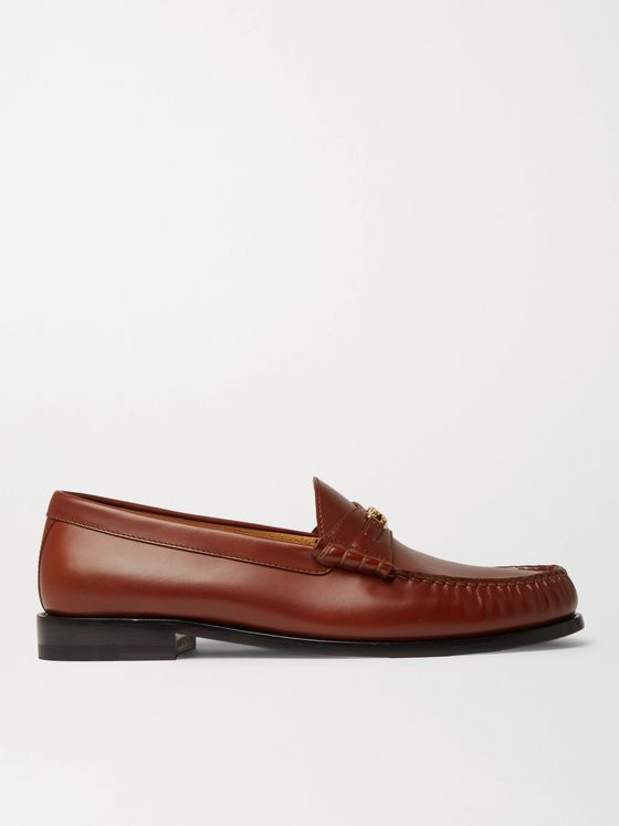 CELINE HOMME Leather Penny Loafers
