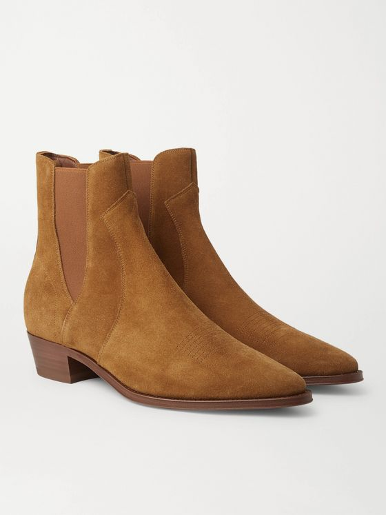 CELINE HOMME Suede Chelsea Boots