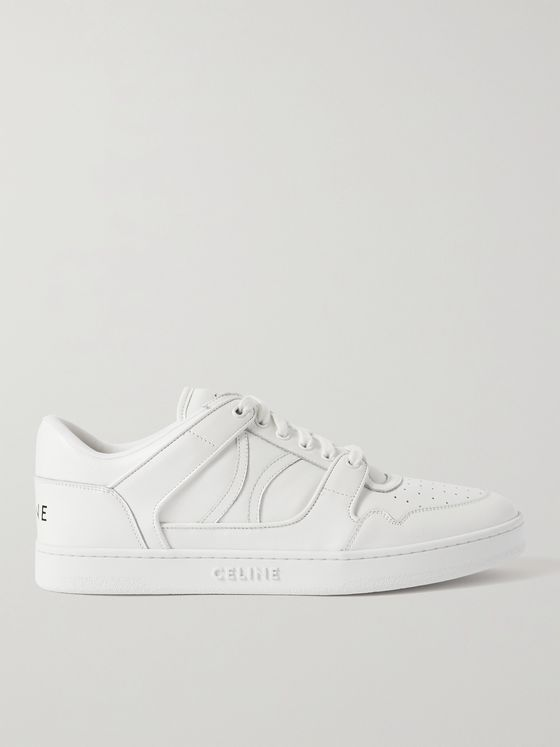 CELINE HOMME Perforated Leather Sneakers