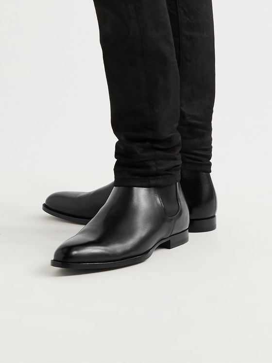CELINE HOMME Leather Chelsea Boots