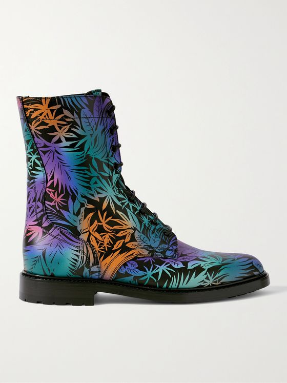 CELINE HOMME Printed Leather Boots