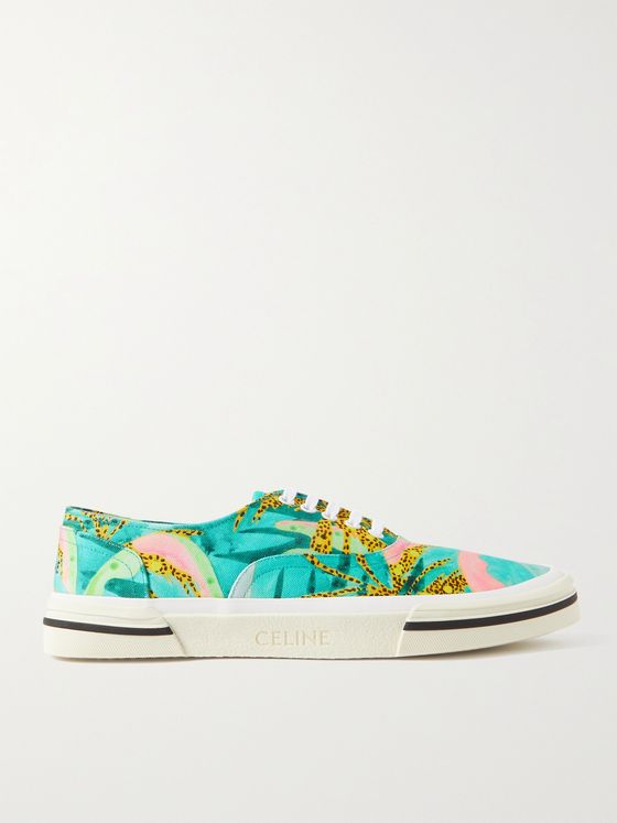 CELINE HOMME Elliot Printed Canvas Sneakers