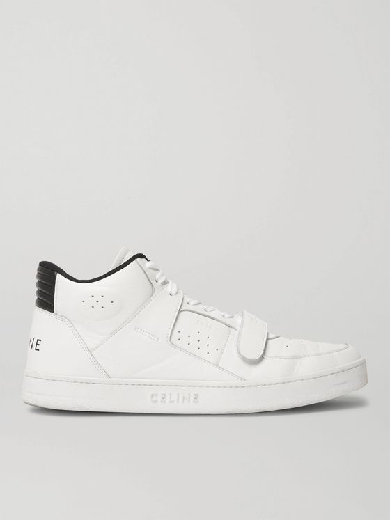 CELINE HOMME CT-02 Leather High-Top Sneakers